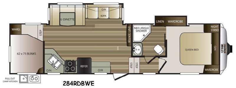 Cougar Half-Ton Series 284RDBWE Floorplan Image