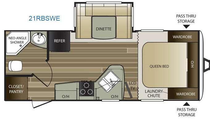 Cougar Half-Ton Series 21RBSWE Floorplan Image