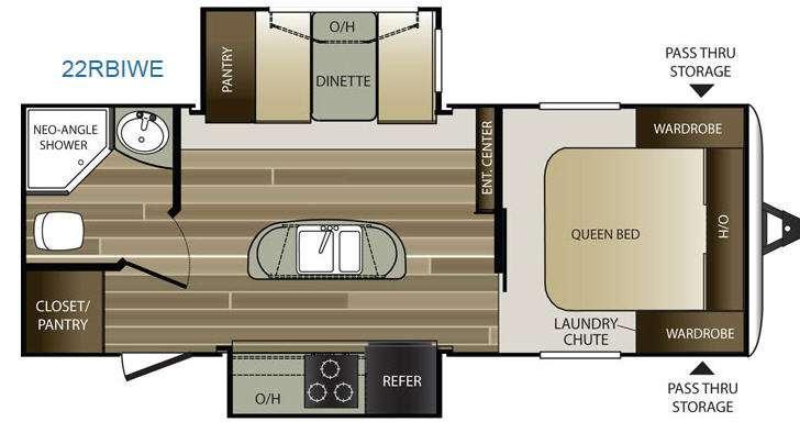 Cougar Half-Ton Series 22RBIWE Floorplan Image