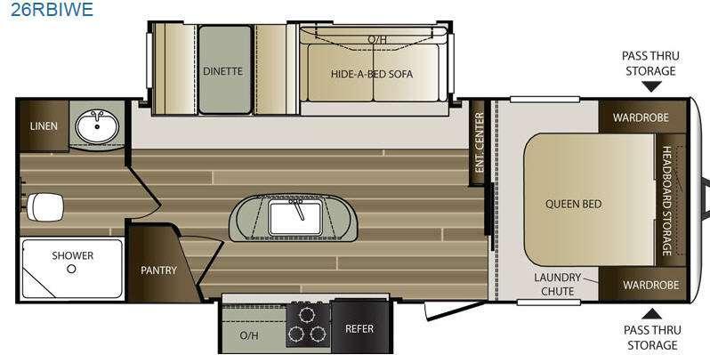 Cougar Half-Ton Series 26RBIWE Floorplan Image