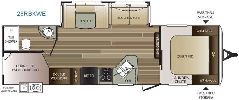 Cougar Half-Ton Series 28RBKWE Floorplan Image
