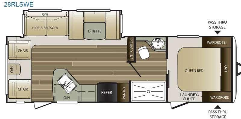 Cougar Half-Ton Series 28RLSWE Floorplan Image