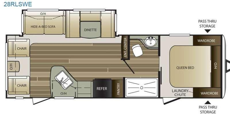 Floorplan - 2017 Keystone RV Cougar Half-Ton Series 28RLSWE