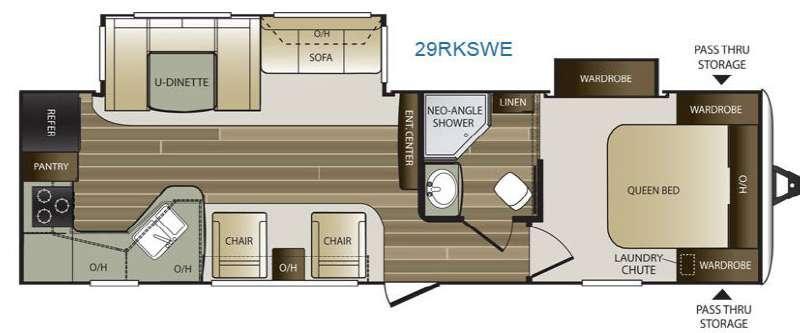 Cougar Half-Ton Series 29RKSWE Floorplan Image