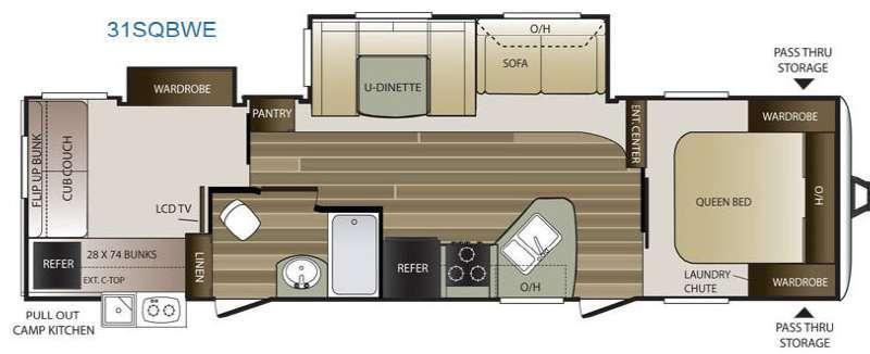 Cougar Half-Ton Series 31SQBWE Floorplan Image