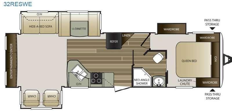 Cougar Half-Ton Series 32RESWE Floorplan Image