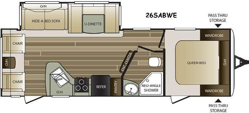 Cougar Half-Ton Series 26SABWE Floorplan Image