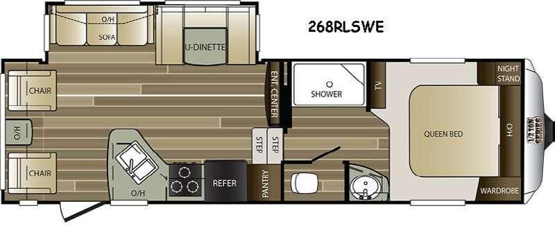 Cougar Half-Ton Series 268RLSWE Floorplan Image
