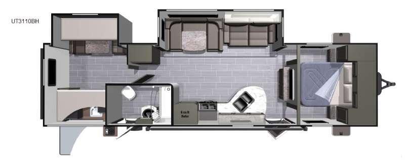 Open Range Ultra Lite UT3110BH Floorplan Image