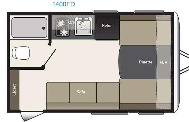 Floorplan - 2016 Keystone RV Summerland 1400FD