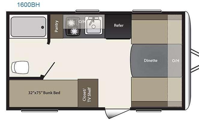 Floorplan - 2016 Keystone RV Summerland 1600BH