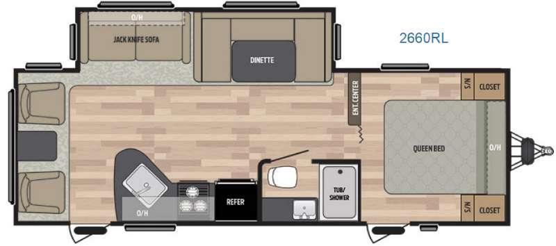 Floorplan - 2017 Keystone RV Summerland 2660RL