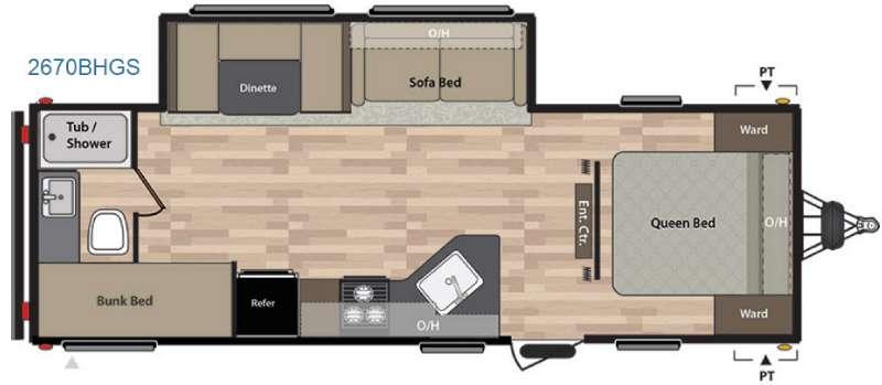 Floorplan - 2017 Keystone RV Summerland 2670BHGS
