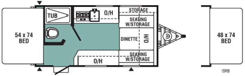 Floorplan - 2017 Viking Ultra-Lite 15RB