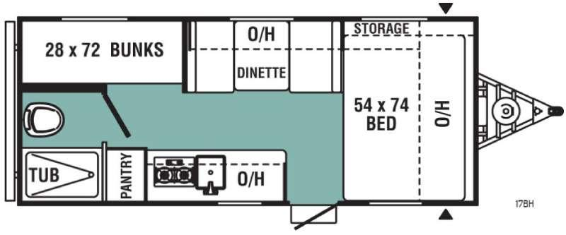 Floorplan - 2017 Viking Ultra-Lite 17BH