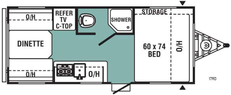 Ultra-Lite 17RD Floorplan Image