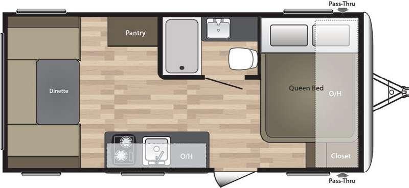 Summerland Mini 1750RD Floorplan Image