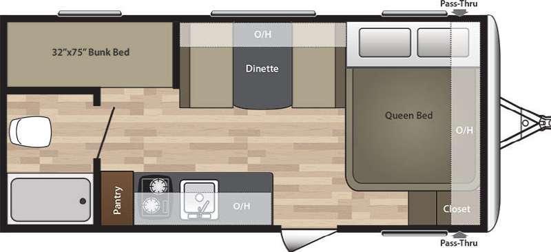 Summerland Mini 1800BH Floorplan Image