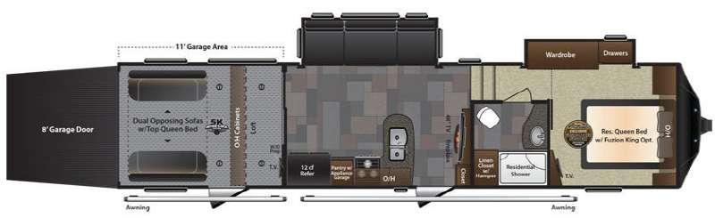 Floorplan - 2017 Keystone RV Fuzion 325
