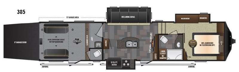 Floorplan - 2017 Keystone RV Fuzion 385