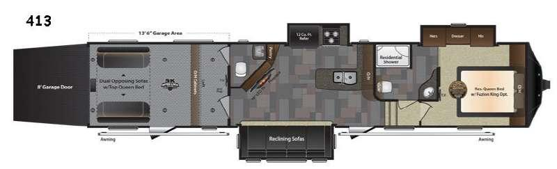 Floorplan - 2017 Keystone RV Fuzion 413