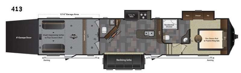 Floorplan - 2017 Keystone RV Fuzion 413