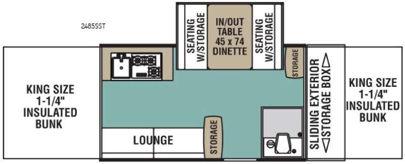 Legend 2485SST Floorplan Image