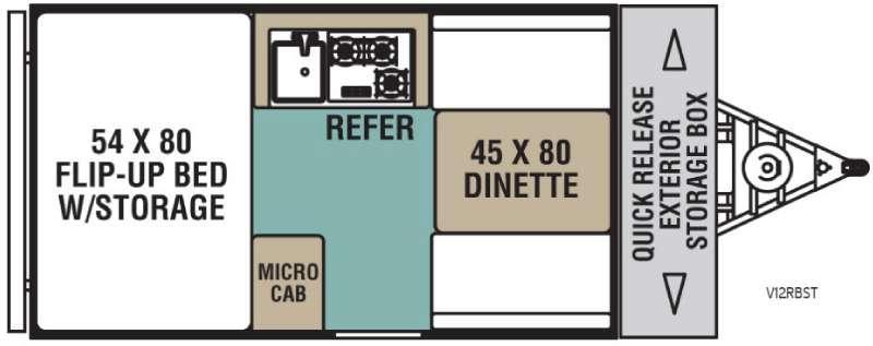 Legend Hardside V12RBST Floorplan Image