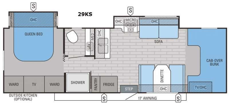 Greyhawk 29KS Floorplan Image