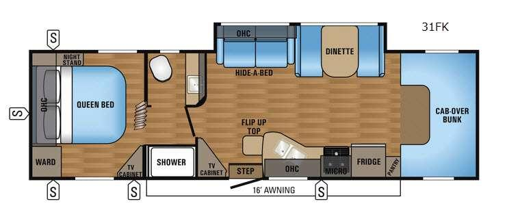 Floorplan - 2017 Greyhawk 31FK Motor Home Class C