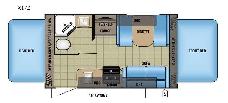 Floorplan - 2017 Jayco Jay Feather X17Z