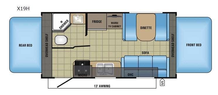 Jay Feather X19H Floorplan Image