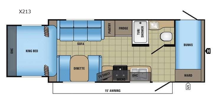 Jay Feather X213 Floorplan Image