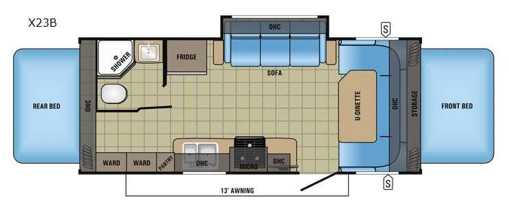 Floorplan - 2017 Jayco Jay Feather X23B