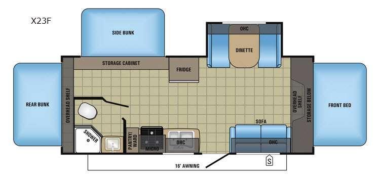 Jay Feather X23F Floorplan Image