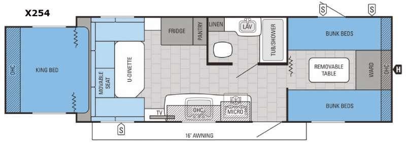 Jay Feather X254 Floorplan Image