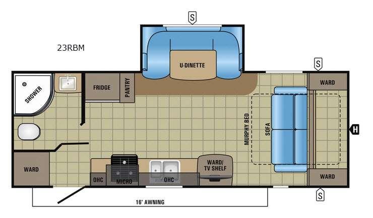 Jay Feather 23RBM Floorplan Image