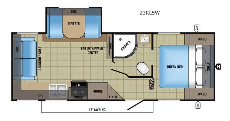 Jay Feather 23RLSW Floorplan Image