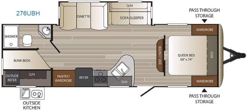 Outback Ultra Lite 276UBH Floorplan Image
