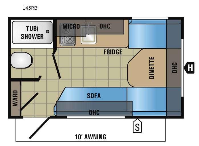 Jay Flight SLX 145RB Floorplan Image