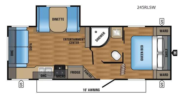 Floorplan - 2017 Jayco Jay Flight SLX 245RLSW