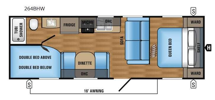 Floorplan - 2017 Jayco Jay Flight SLX 264BHW