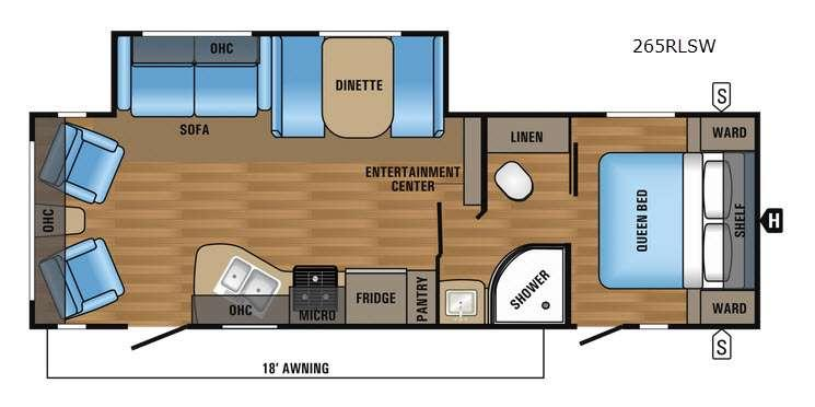Floorplan - 2017 Jayco Jay Flight SLX 265RLSW