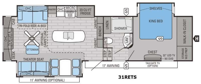 Pinnacle 31RETS Floorplan Image