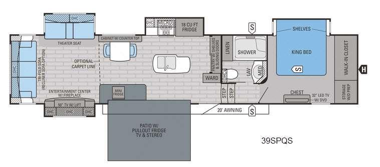 Pinnacle 39SPQS Floorplan Image