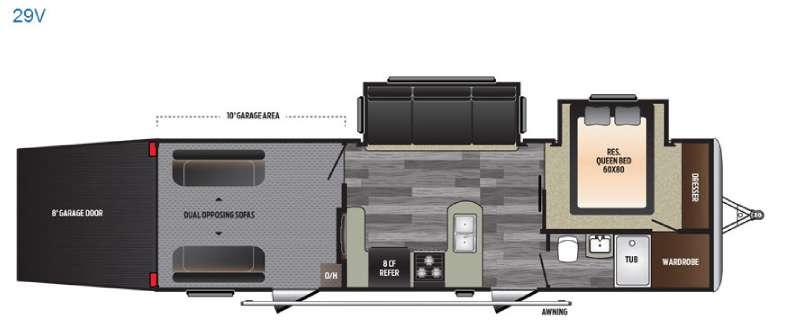 Floorplan - 2017 Keystone RV Impact 29V