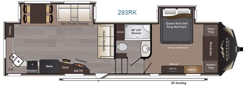 Montana High Country 293RK Floorplan Image