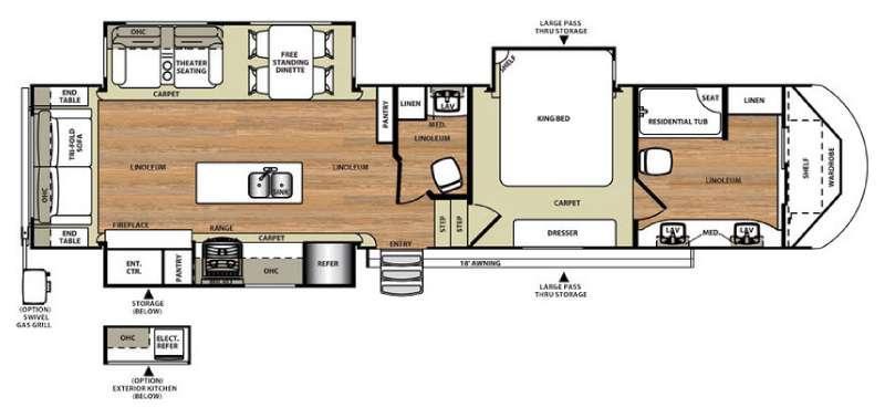 Salem Hemisphere Lite 386FBK Floorplan Image