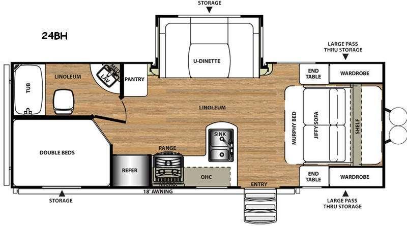 Salem Hemisphere Lite 24BH Floorplan Image