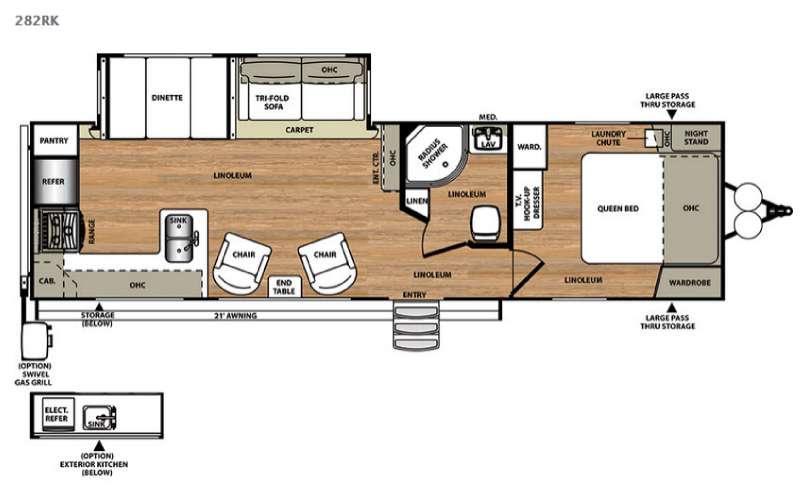 Salem Hemisphere Lite 282RK Floorplan Image